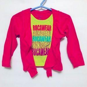 Rocawear girls pink top 24M